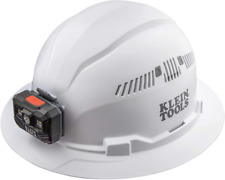 Klein Tools 60407 Hard Hat Light Vented Full Brim Style Padded Self Wicking