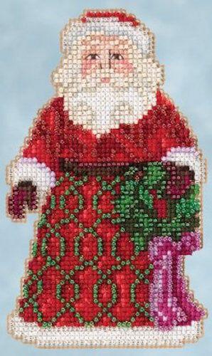 10/% Off Mill Hill Greetings Santa Jim Shore Ornament X-stitch//bead Kit