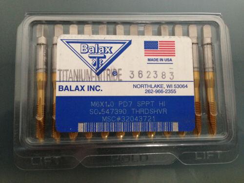 NEW M6X1.0 PD7 SPPT BALAX TIN HIGH SPEED SPIRAL POINT TAP