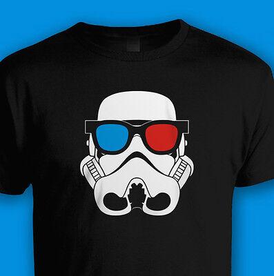 Star Wars Vintage Rétro Années 70 lunettes 3D Stormtrooper t shirt classic movie film