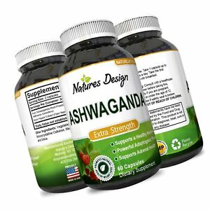 Details about Ashwagandha Root Powder - Natural Supplement Pills For Sleep  & Relaxation Red