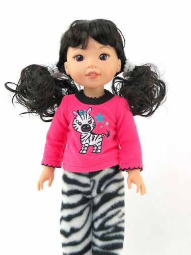 """Zebra Pajamas Made For 14.5/"""" Wellie Wishers American Girl Doll Clothes"""