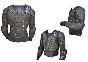 Motocross Moto Cuerpo Armadura Ce Moto Protección Protector Chaqueta Negra