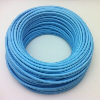 Textilkabel Einzelader Lampenkabel 1-adrig 1x0,75 Hellblau Design Eu 100m Betrouwbare Prestaties