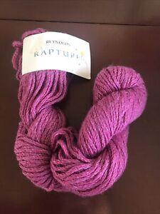 Discontinued Reynolds Rapture Yarn Color 999 Pink Fuchsia Silk/Wool Blend 72yds