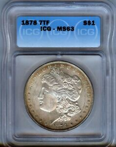 1878-P-7tf-Morgan-Silver-1-ICG-MS63-NICE-TONING-LOOKS-BETTER