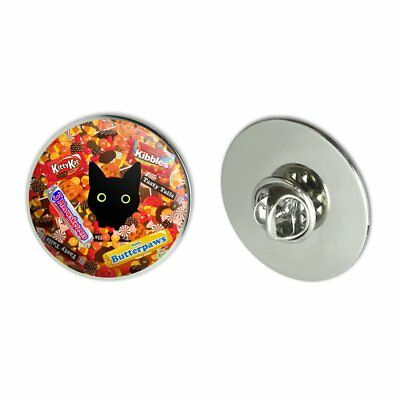 Halloween Black Cat Hiding in Candy  Pinback Button Pin Badge