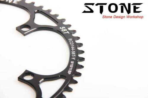 "Circle Chainring Narrow Wide Tooth BCD144 For Track Bike 144BCD 1//2x 3//32/"" Chain"