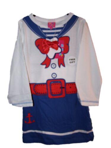 Neuf Filles 2 pièce marin sailor Pyjamas Pjs 3-10 ans Chemise de nuit /& Leggings