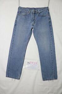 Levi-039-s-505-STONE-WASH-usato-Cod-H2733-W34-L30-denim-jeans-dritto