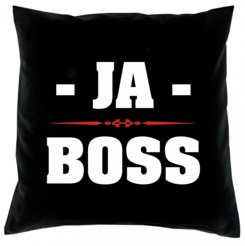 Kissen Bezug 40x40 lustiger Spruch Kissenbezug Ja Boss