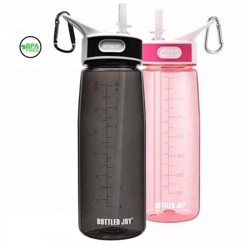 800ml Straw Drink Water Bottle Boy Girl Bpa Free Cute Kids With Handle No Leak