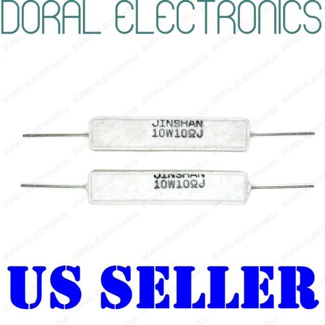 5x Axial Ceramic Cement Power Resistor 68 Ohm 10W 68R 5/%