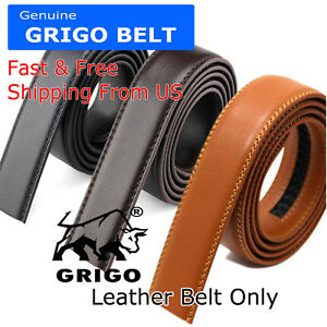 Fashion-Men-039-s-Automatic-Real-Leather-Ratchet-Belt-Strap-Jeans-Waistband-Gift