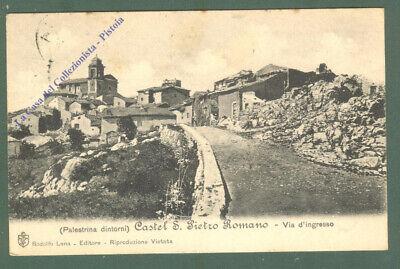 Lazio. CASTEL S.PIETRO, Roma. Cartolina d'epoca viaggiata ...