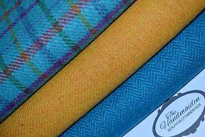 HARRIS-TWEED-FABRIC-BUNDLES-100-wool-craft-quilting-patchwork-tartan-Scotland-2