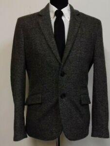 38 Label Label tessuto girocollo in lana uomo da Giacca in M foderata grigio 7Tvwx