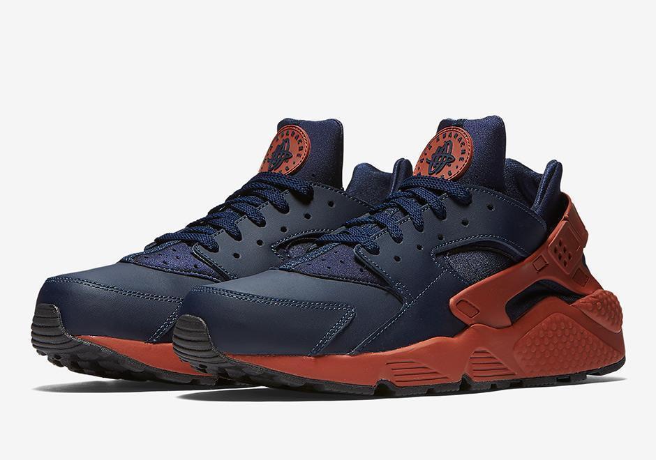 Nike Air huarache 318429 / 417 obsidiana Azul marino / 318429 Marte Stone / arcilla rojo naranja / negro f3c9fd