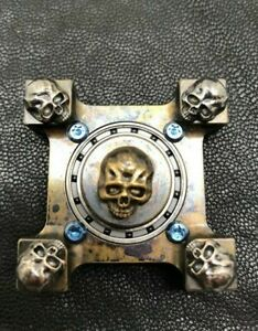 steel-flame-ring-spin-Silver-3D-Warrior-Skull-Body-with-leather-pouch