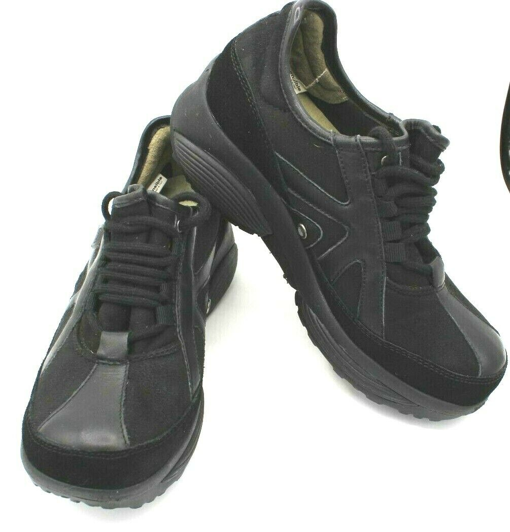 XSENSIBLE Stretch Walker Rocker Sole nero nero nero scarpe da ginnastica Walking Lace donna scarpe 38 8 5639aa