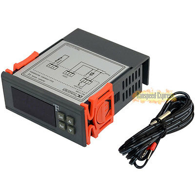 220V -58~230°F LED Fahrenheit Thermocouple Temperature Controller F Thermostat