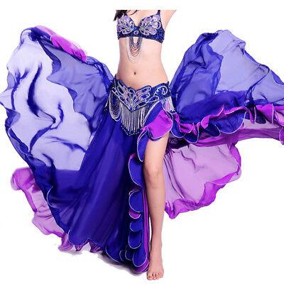 C234 Danza Del Ventre Costume Gonna Con Spacco Tribal Fusion Belly Dance-