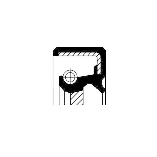 1 Wellendichtring Nockenwelle CORTECO 20026123B passend für CITROËN FIAT FORD