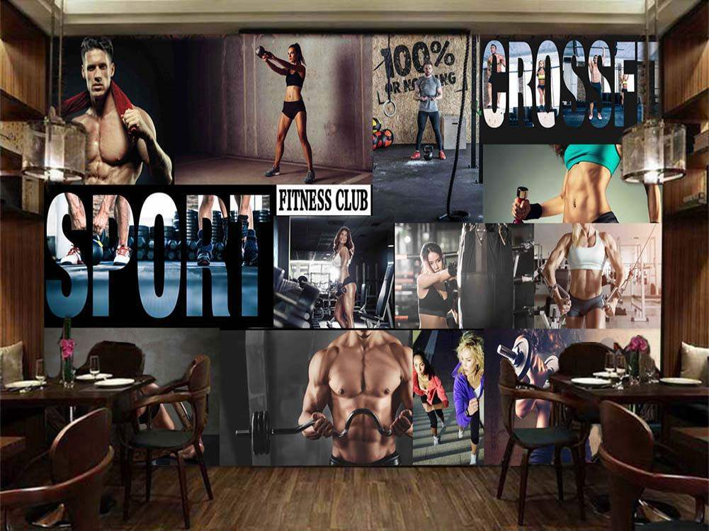Strong Fitness Gurus 3D Full Wall Mural Photo Wallpaper Printing Home Kids Decor