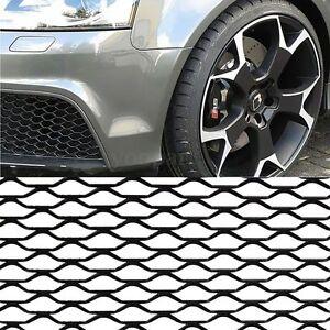 GRIGLIA-RETE-SPORTIVA-AUTO-PER-PARAURTI-CALANDRA-100X33CM-NERO-NERA-MOTO-TUNING