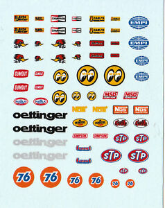 water transfer decals USA sponsors décalcomanies