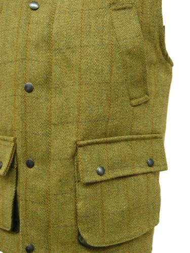 D35 New Mens Light Derby Tweed Hunting Shooting Derby Waistcoat Bodywarmer Gilet