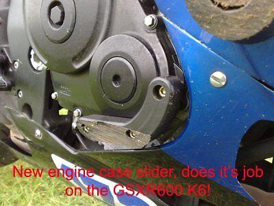 R/&G Racing Right Hand Engine Case Slider to fit Suzuki GSXR 750 K6-L0 2006-2010