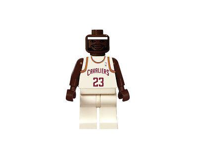 lebron lego. **custom** lego lebron james cleveland cavaliers nba king lbj white jersey cavs lebron lego