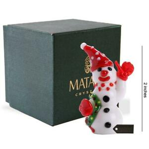 Murano-Christmas-Winter-Decorative-Glass-Snowman-with-Wreath-Figurine-Christma