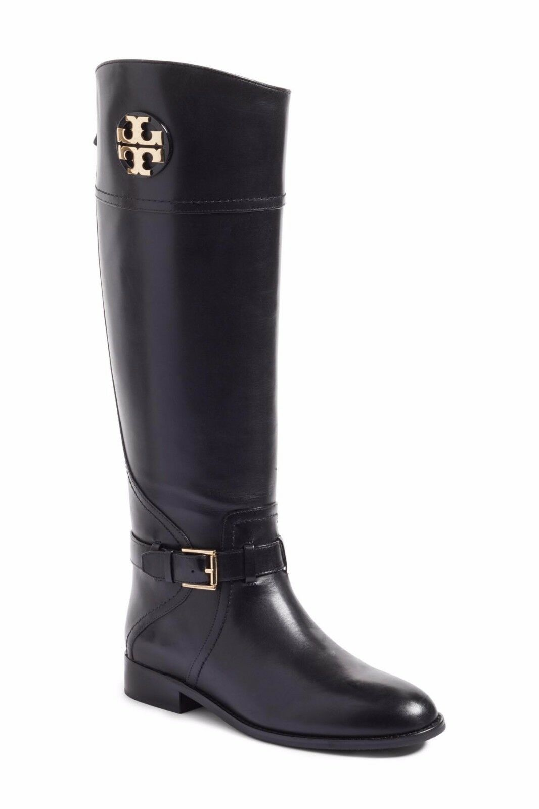 NIB Tory Burch Leather Adeline Boot Boots BLACK WIDE Calf 9.5 M