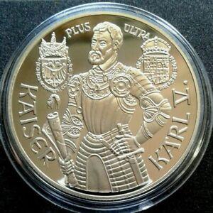Austria 100 scellini 1991, Argento detrazione, Kaiser Karl V, certificato originale
