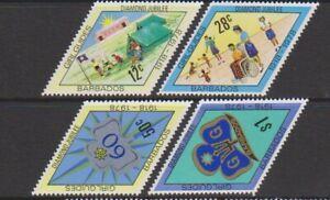 Barbados - 1978, Diamond Jubilee of Girl Guides set - MNH - SG 605/8