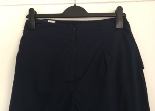 M/&S Navy Frill Front Cotton Midi Skirt 6//8//10//12//14//16 RRP £39.50