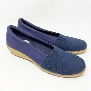 Grasshoppers-Women-s-Slip-On-Comfort-Cushion-Low-Wedge-Pump-Blue-Size-6