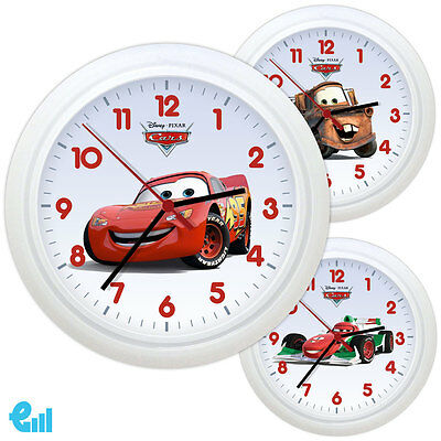 NEW Disney Cars Wall Clock Personalized Gift Kids Bedroom Boy Girl Toy Novelty