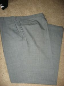 Mens Gray Austin Reed Wool Dress Pants 37 X 31 Ebay