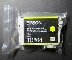 Genuine New Epson Yellow Ink TO804 4,7ml Inkjet Cartridge Hummingbird