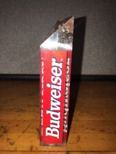 Rare Budweiser GAME TIME Crown 3 Sided Top Beer Tap Handle Bar Pub Cave NEW