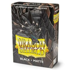 Japanese Matte Black Case Display Dragon Shield Sleeves - 10x 60 ct Packs