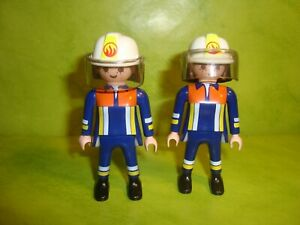 Playmobil-2-personnages-pompiers-Playmobil-figurine-figure