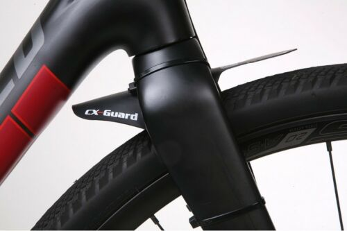 Black or White RRP CX-Guard Mini Front Mudguard for Cyclocross Road Bikes
