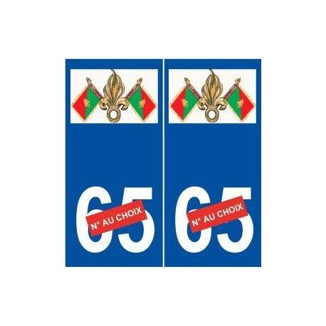Légion étrangère sticker autocollant plaque arrondis