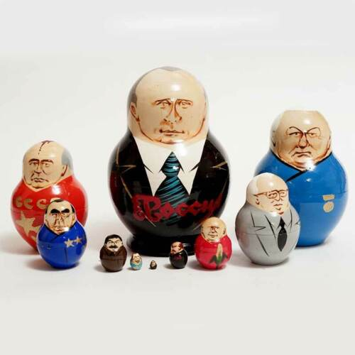 Nesting doll Putin and other Russian Political Leaders matryoshka dolls - 470p