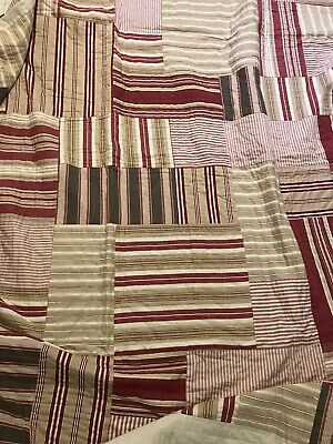 Pottery Barn Queen Quilt Amp 2 Standard Shams Natural Red