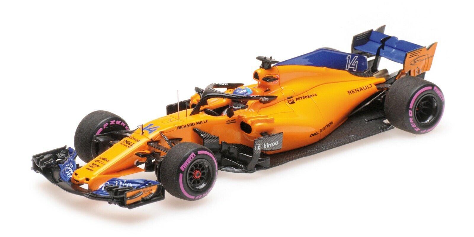 Minichamps F1 McLaren MCL33 Fernando Alonso  300th F1 GP - Canadian GP 2018